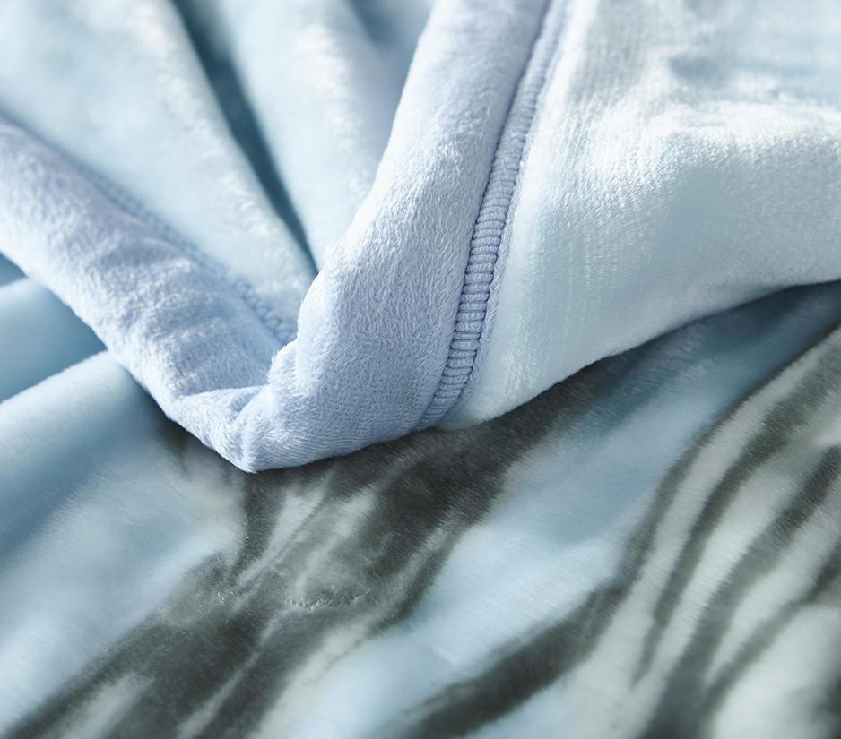 俪莎舒柔云毯-柔和蓝/仙女紫