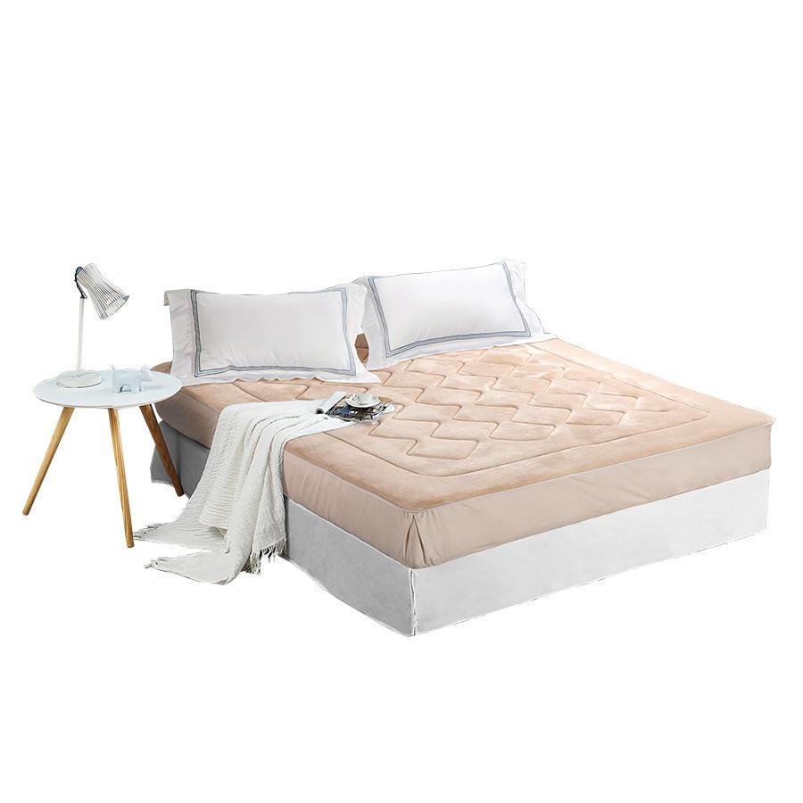 法兰绒保暖床笠式保洁垫